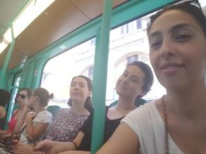 In tram