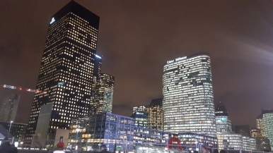 La Defense by night. Cold January night