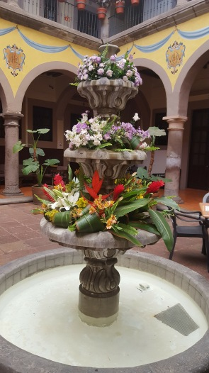 Old style flower fountain