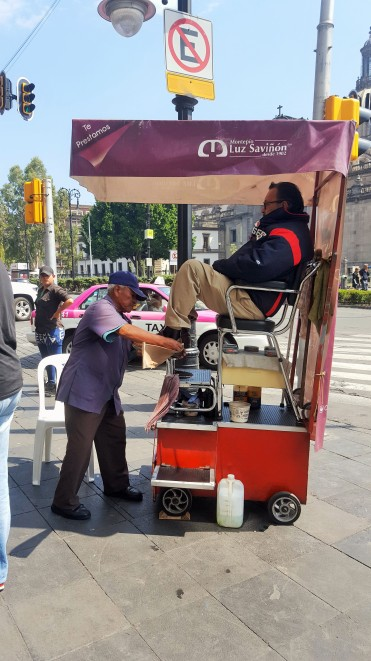 Ceva obișnuit pe străzile din Mexico City